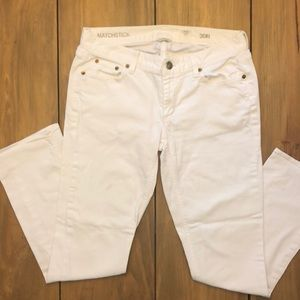 Women's White J Crew Cotton Jeans Size 30 Regular